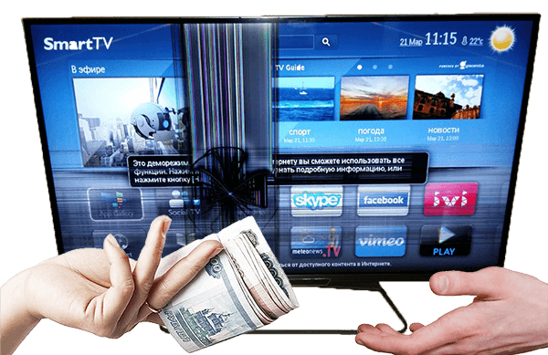 Выкуп битых телевизоров утилизация списание техники разбитых неисправных выкуп на запчасти деньги на руки Москве